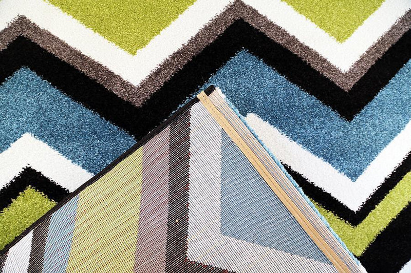 Valens Chevron Green Blue Rug