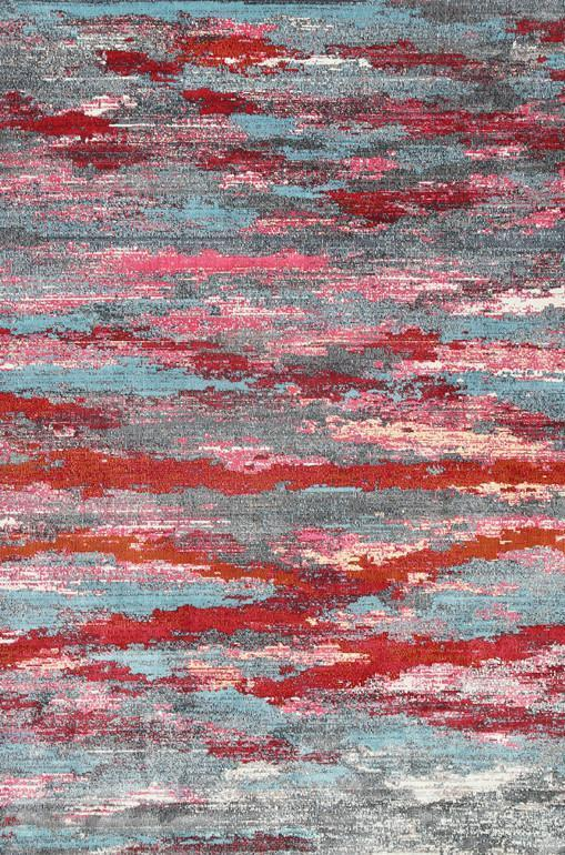 AquaSilk Multicoloured Horizontal Ribbon Stripes