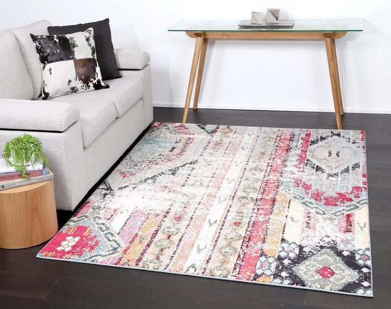 Symphony Vintage Bohemian Multi-Coloured Distressed Rug
