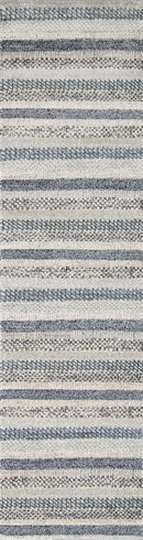 Symphony Scandi Blue Runner Rug