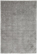 Siesta Solid Light Grey Shag Rug