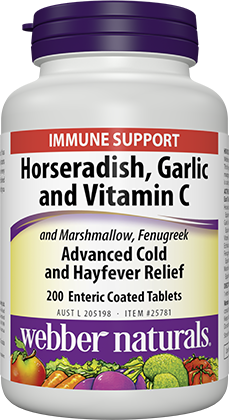 Webber Naturals Horseradish, Garlic and Vitamin C 200 Tablets