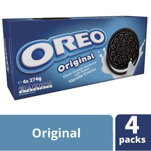 Oreo Original Choc Cookie With Vanilla Creme 4 x 274g