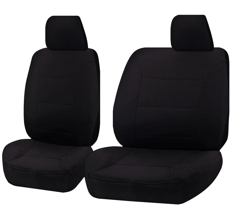 Tailor Made Challenger II Seat Covers for ISUZU D-MAX 06/2012-2016 SINGLE CAB CHASSIS BLACK