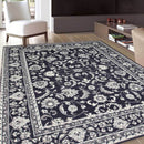 Gerald Navy Traditional Design Rug