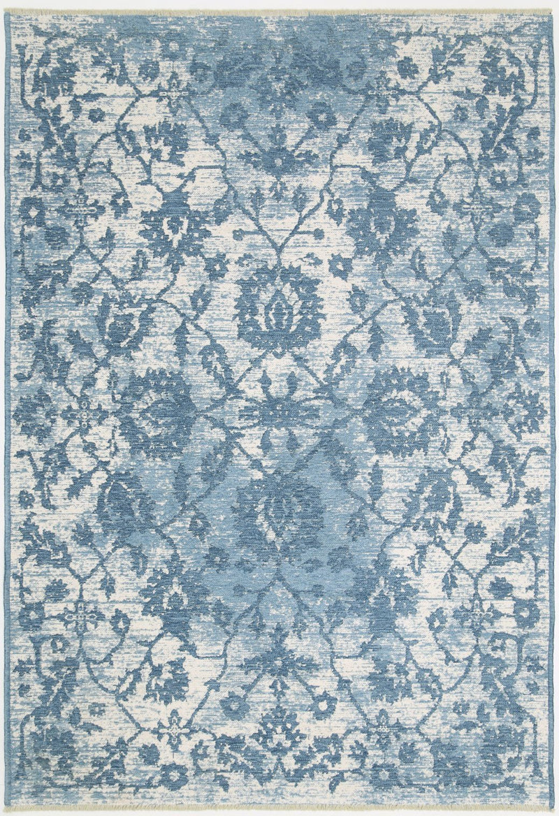 Rustic Vintage Classic, Amazing 2 in 1 Reversible Rug Blue