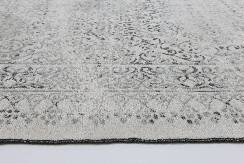 Rustic Vintage Distressed, Amazing 2 in 1 Reversible Rug Grey