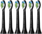 Philips Sonicare W Optimal White Electric Toothbrush Replacement Heads / Black (6-pack )
