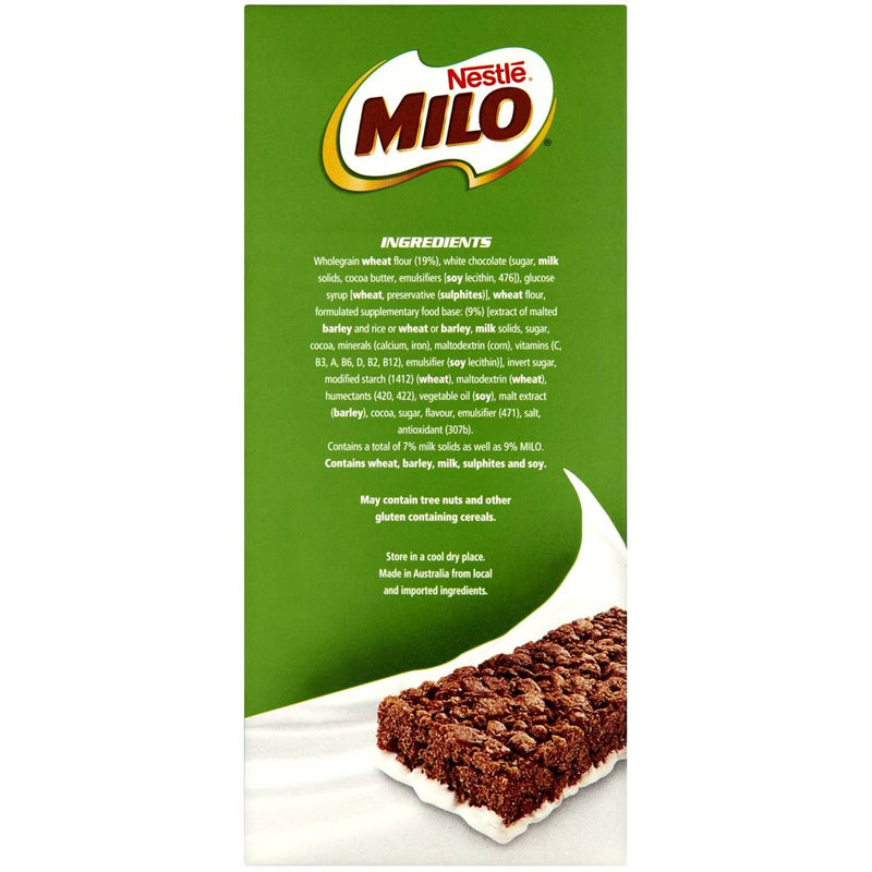 Nestle MILO Energy Snack Bars W/ Milk 30 x 27g