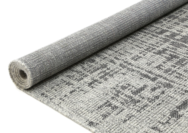 Polo Patio Kailani Light Grey Black indoor / Outdoor Rug