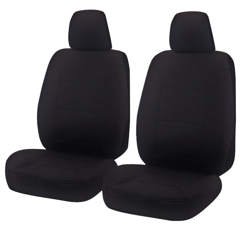Tailor Made All Terrain Seat Covers for MITSUBISHI TRITON MQ-MR SERIES 01/2015-ON DUAL/CLUB CAB UTILITY BLACK