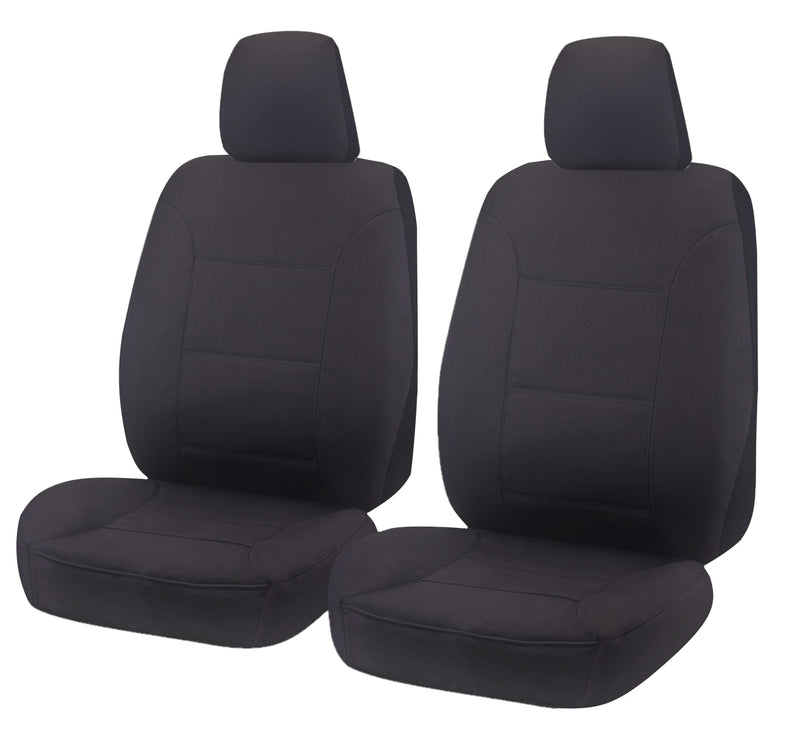 Tailor Made Challenger II Seat Covers for MITSUBISHI TRITON MQ-MR SERIES 01/2015-ON SINGLE CAB CHASSIS CHARCOAL