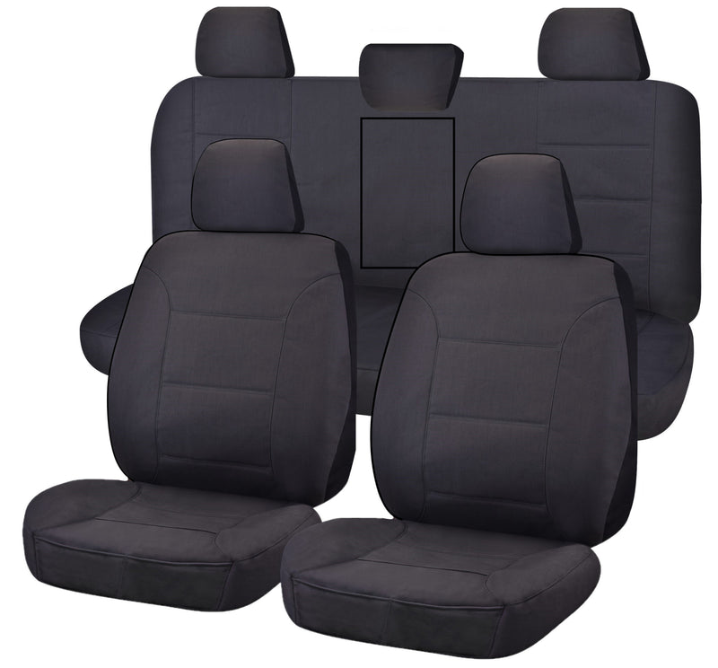 Tailor Made All Terrain Seat Covers for TOYOTA HILUX  07/2015-ON DUAL CAB UTILITY CHARCOAL