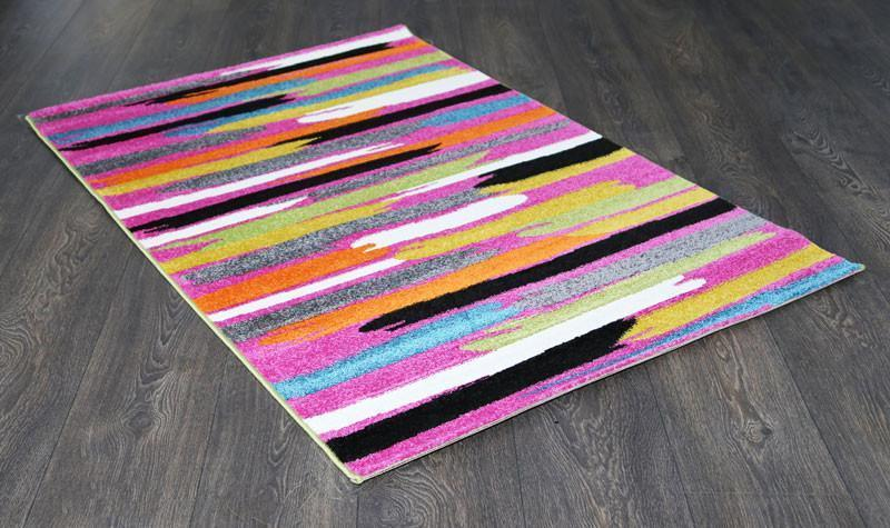 Phenom Multi-Coloured Pink Abstract Paint Rug