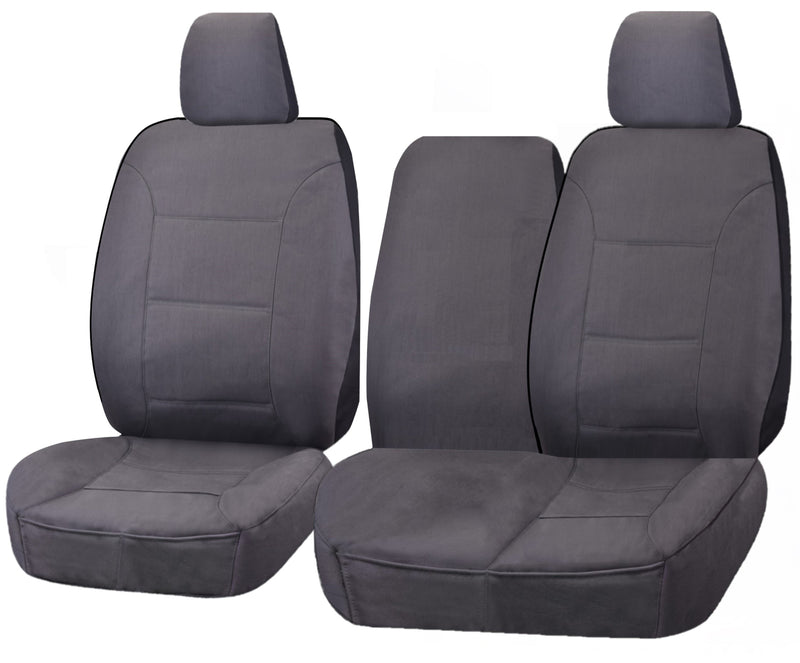 Tailor Made Challenger II Seat Covers for TOYOTA LANDCRUISER 100 SERIES 1998-2015 STANDARD HZJ-FZJ105R  CHARCOAL