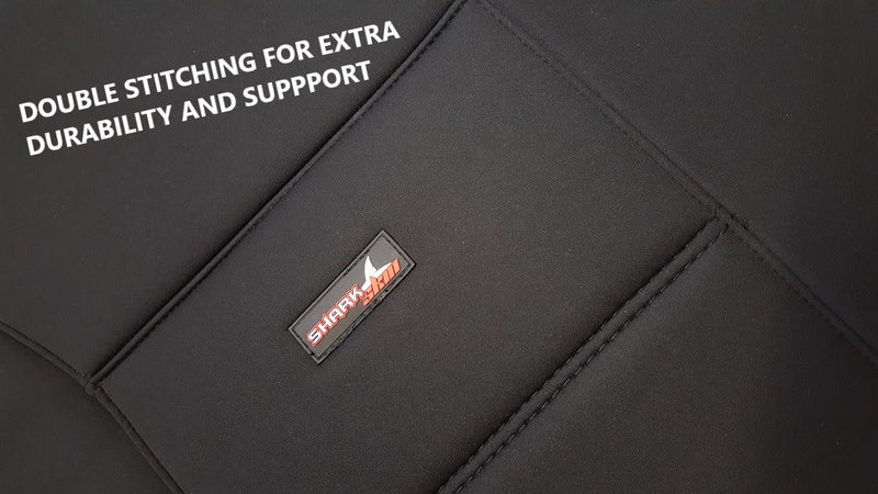 Tailor Made Sharkskin Ultimate Neoprene Seat Covers for MITSUBISHI TRITON MQ-MR SERIES 01/2015-ON DUAL CAB UTILITY BLACK