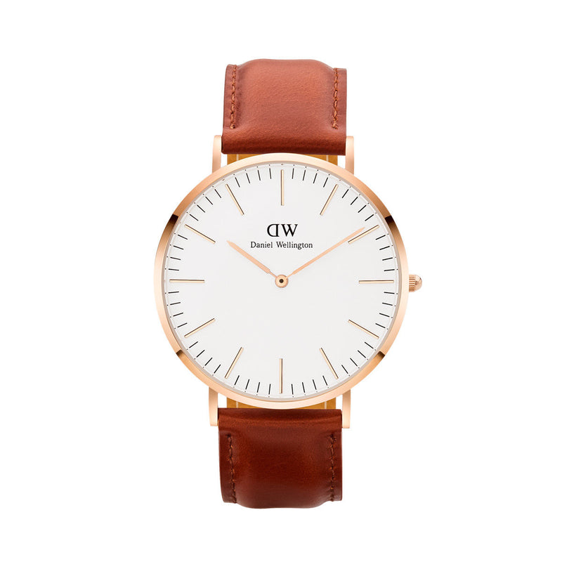 Daniel Wellington Classic St Mawes Watch 40mm Brown/Rose Gold - DW00100006