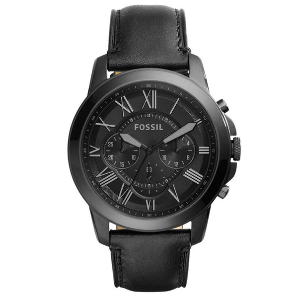Fossil Mens Grant Black Chronograph Watch FS5132