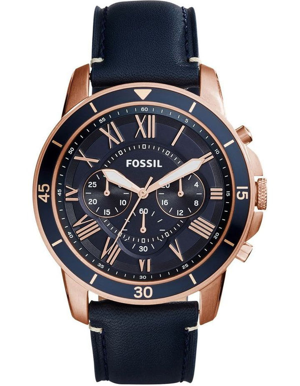 Fossil Grant Sport Blue Dial Men's Chronograph Watch FS5237