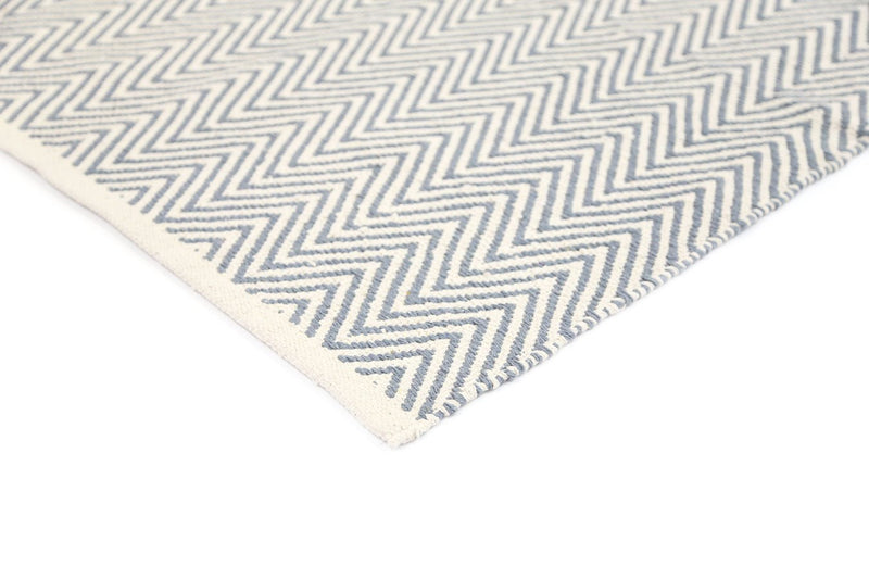Illusion Grey Natural Cotton Rug