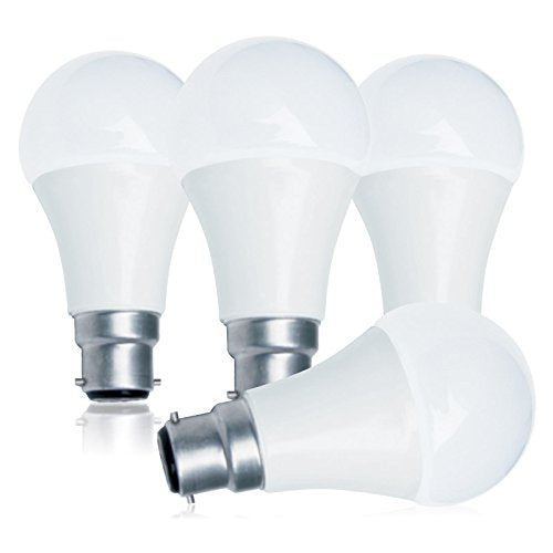 Luminus LED A60 with B22 Bayonet Base 9W 5000K Dimmable Bulbs - 4 Pack