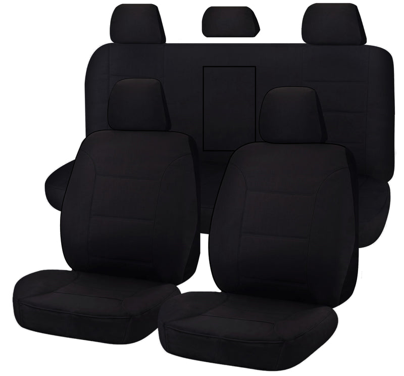 Tailor Made Challenger II Seat Covers for MITSUBISHI TRITON ML-MN SERIES 16/2006-2015 DUAL CAB UTILITY BLACK