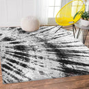 Pablo Grey and Black Bohemian Tie Dye Patterned Rug