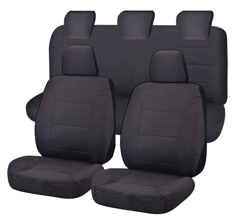Tailor Made Challenger II Seat Covers for FORD RANGER PXII-PXIII SERIES 06/2015-ON DUAL CAB UTILITY  CHARCOAL