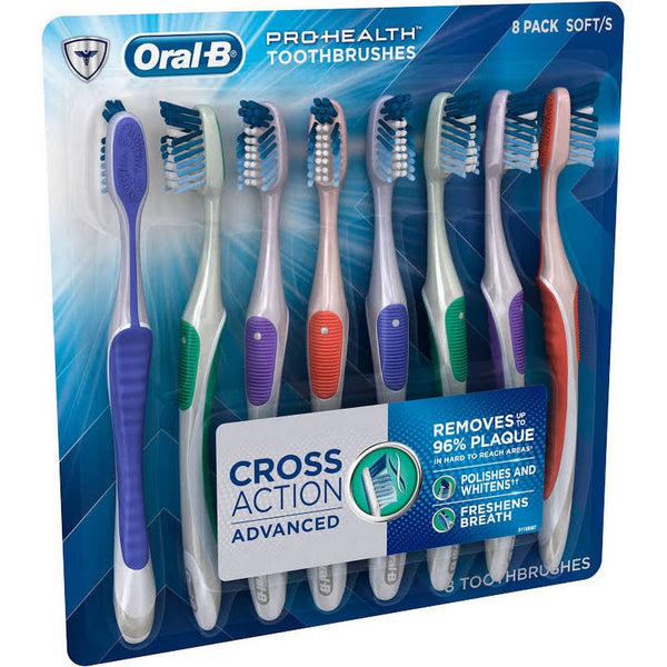 Oral-B Cross Action Advanced Toothbrush - 8 Pack