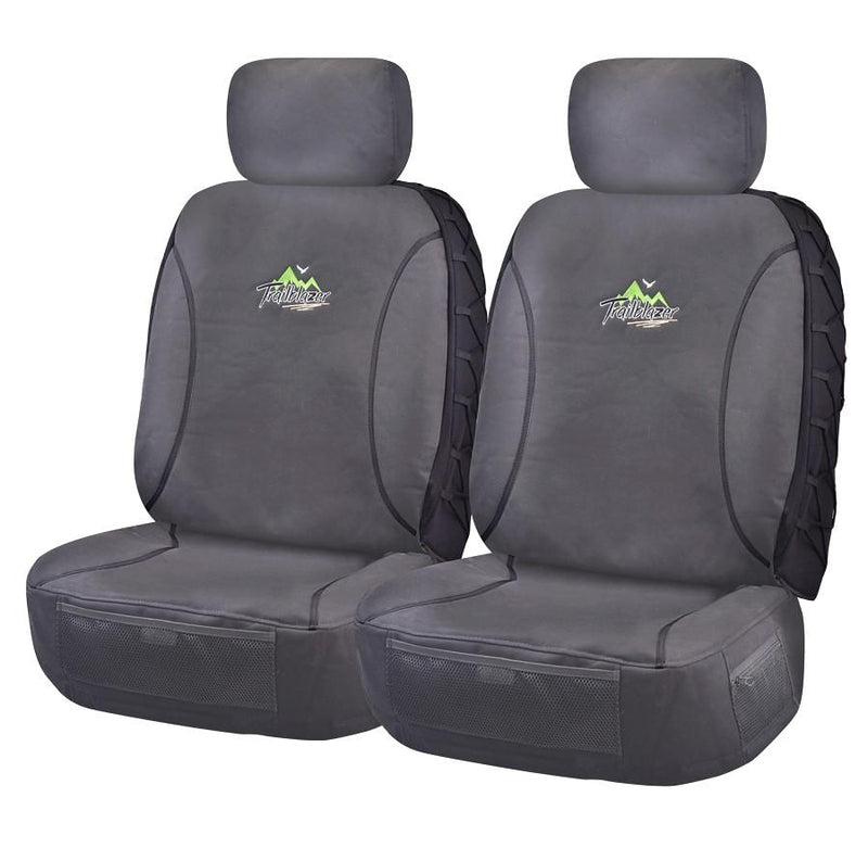 Tailor Made Trailblazer Seat Covers for TOYOTA LANDCRUISER VDJ 70 SERIES 05/2007-ON TROOPCARRIER 4X4 WAGON-SINGLE /DUAL CAB CHASSIS CHARCOAL