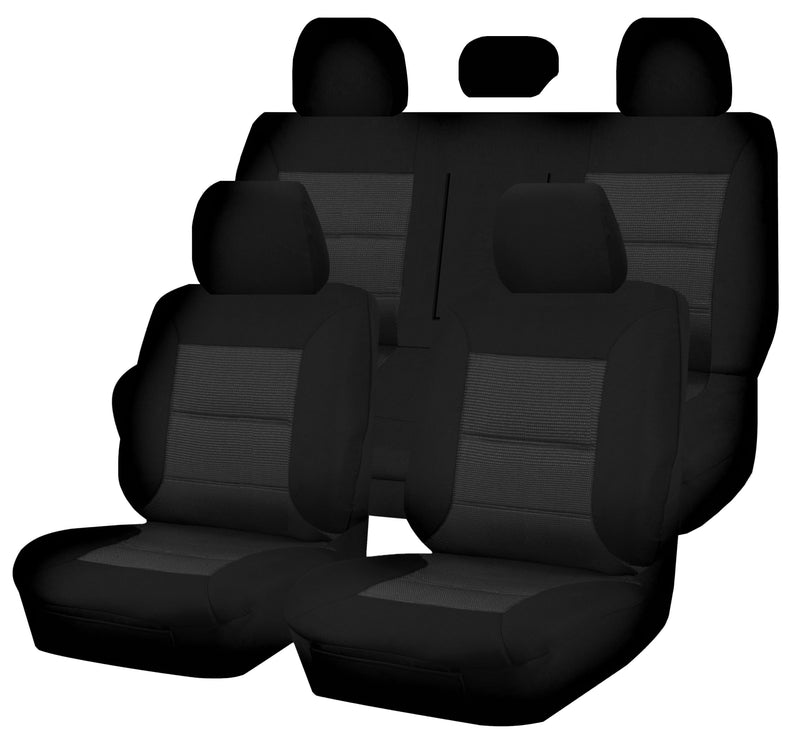 Tailor Made Premium Seat Covers for MITSUBISHI TRITON ML-MN SERIES 16/2006-2015 DUAL CAB UTILITY BLACK