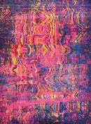 Spirit Pink and Multi Colour Absract Rug