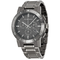 BURBERRY Chronograph Gunmetal Dial Grey Stainless Steel Men's Watch BU9381