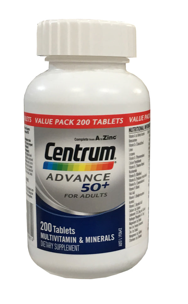 Centrum Advance 50+ Multivitamin 200 Tablets