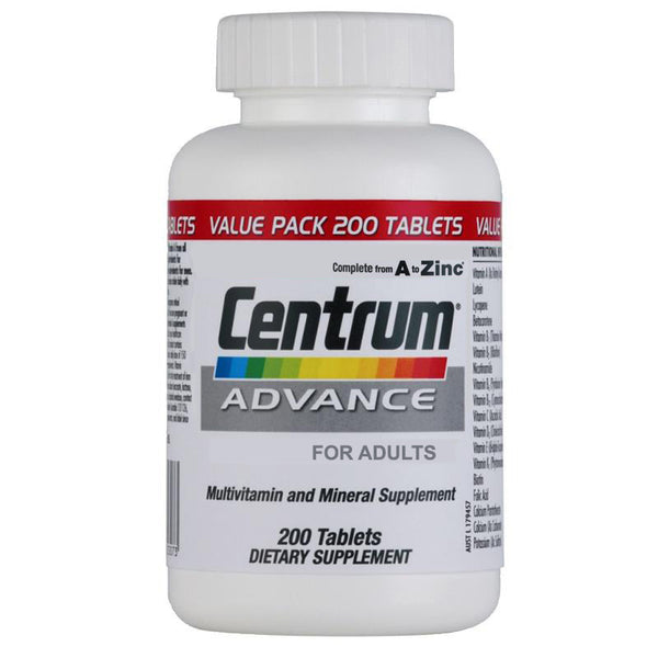 Centrum Advance Multivitamin 200 Tablets