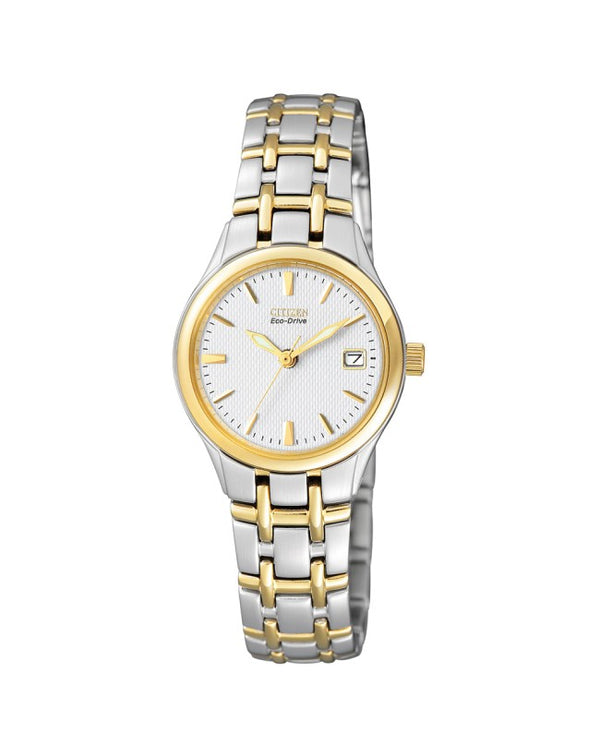 Citizen Ladies Two Tone Stainless Steel Eco-Drive Watch EW1264-50A