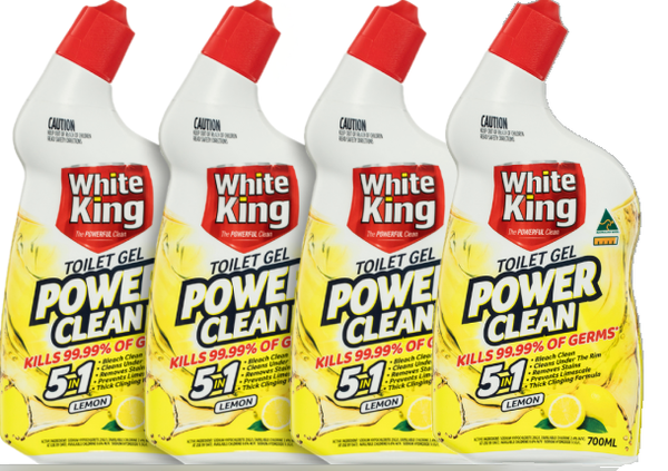 White King Toilet Gel Cleaner 4 x 700 ml