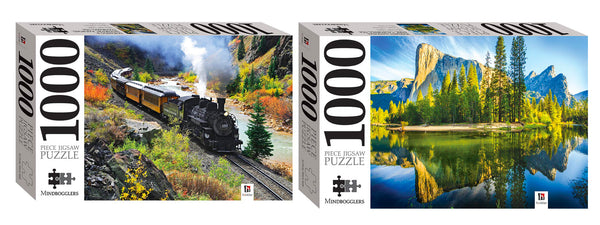 Mindbogglers 1000 Piece Jigsaw Puzzle 2 Pack
