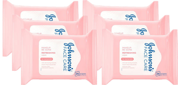 Johnsons Face Care Refreshing Wipes for Normal Skin 6 x 25 Wipes