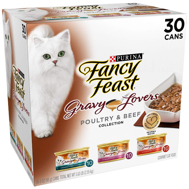 Purina Fancy Feast Gravy Lovers 30 x 85g - Poultry And Beef Feast Variety