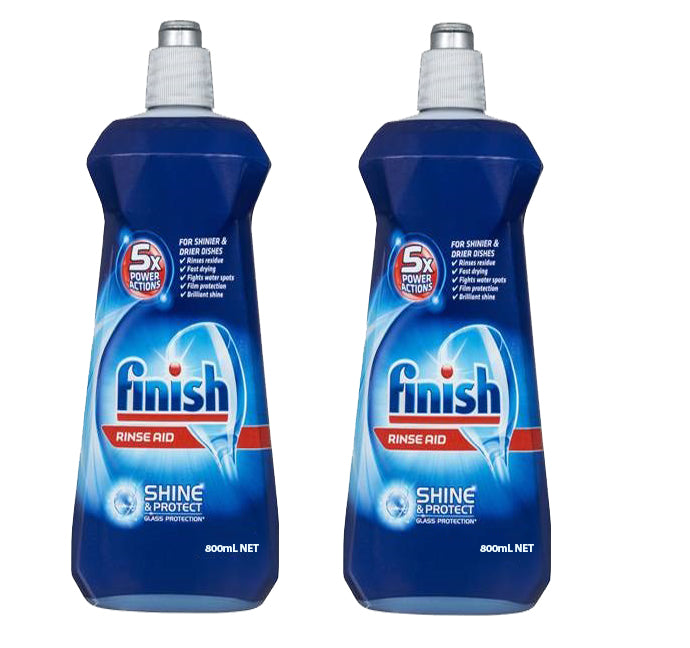 2 x Finish Shine & Protect Rinse Aid 800mL