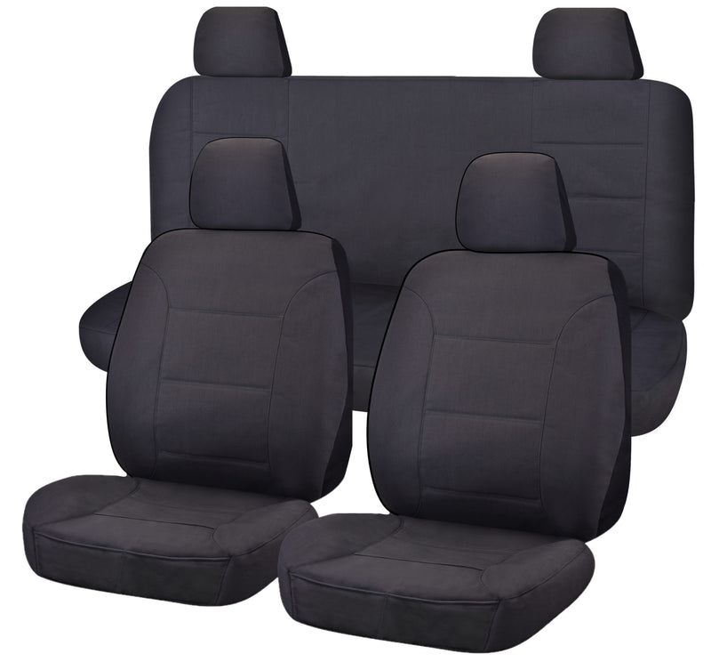 Tailor Made All Terrain Seat Covers for NISSAN NAVARA D23 SERIES 3-4 NP300 11/2017-ON DUAL CAB UTILITY CHARCOAL