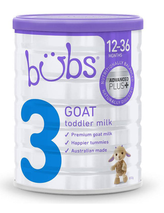 Bubs Advanced Plus Goat Milk Toddler Formula Stage-3 800g