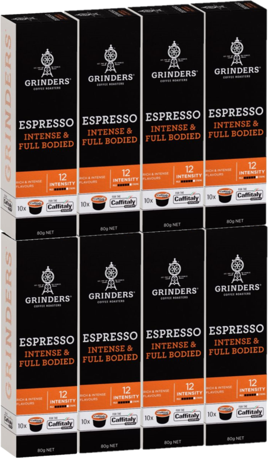 Grinders Espresso Caffitaly Coffee Capsules 8x10pk