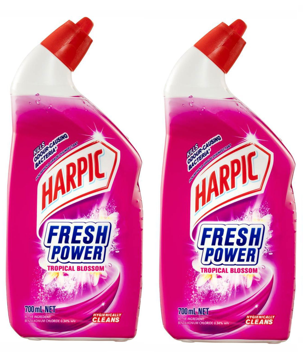 Harpic Fresh Power Toilet Gel - Tropical Blossom 2x700ml