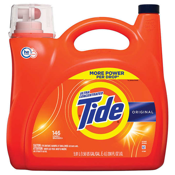 Tide Ultra Concentrated HE Liquid Laundry Detergent 5.91 L - 146 Washes