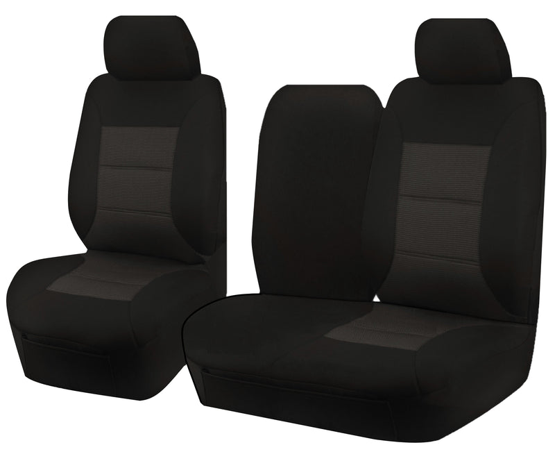 Tailor Made Premium Seat Covers for HYUNDAI ILOAD TQ 1-5 SERIES 08/2008–ON SINGLE/CREW CAB UTILITY VAN BLACK