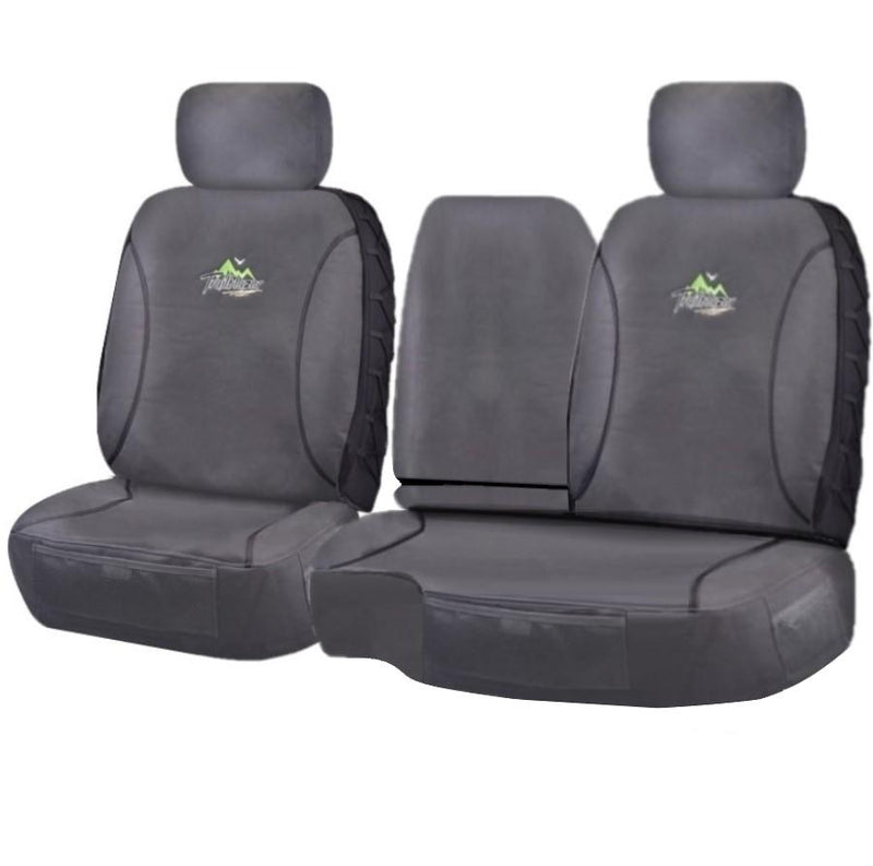 Tailor Made Trailblazer Seat Covers for TOYOTA LANDCRUISER 100 SERIES 1998-2015 STANDARD HZJ-FZJ105R CHARCOAL