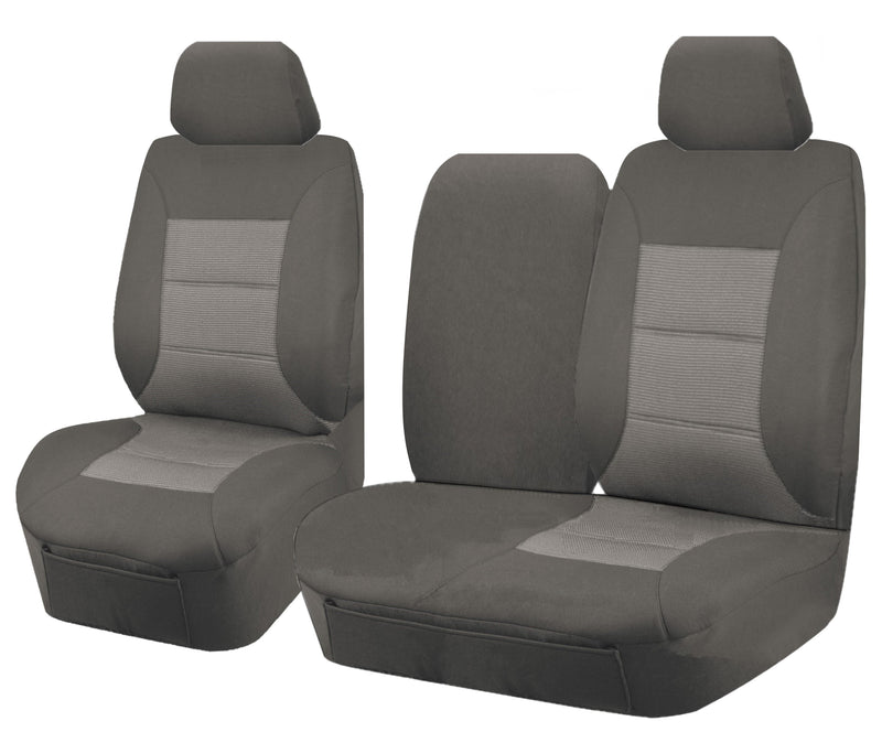 Tailor Made Premium Seat Covers for TOYOTA LANDCRUISER 100 SERIES 1998-2015 STANDARD HZJ-FZJ105R  GREY
