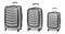 Tosca Prime Lite 3PC Luggage Set in Grey